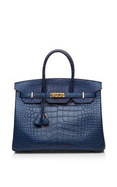 Blue De Malte Matte Alligator 35cm Hermes Birkin Bag by Heritage Auctions Special Collection - Moda Operandi
