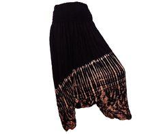Women's Black Tie Dye Thai Harem Pants by AsianCraftShop on Etsy, $21.00
