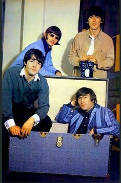April 1966. The Beatles take part in an impromptu photo session while on a visit to the NEMS Offices. One of the pictures would be used as a replacement for the 'Butcher Cover' originally used for 'Yesterday and Today' album.