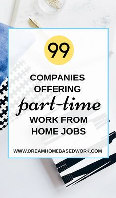 I've made a list of 99 work at home jobs with flexible part-time schedules. Transcription customer service data entry freelance and more jobs in various fields. Home Based Work, Work From Home Tips, Make Money From Home, Way To Make Money, Money Fast, Make Money Writing, Make Money Blogging, Money Tips, Money Hacks