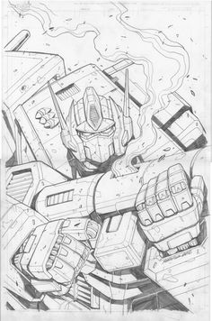 Optimus Prime Sketch by ~MarceloMatere