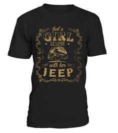 Girl in love with her Jeep  #gift #idea #shirt #image #funny #campingshirt #new