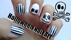 Halloween Nail Art for Short & Long Nails : Nightmare Before Christmas