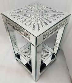 Why Hon File Cabinets Are The Only Option For Your Property Or Office Mirrored End Table Square Sparkly Silver Diamond Crush Crystal Starshine Design Mirrored Bedroom Furniture, Furniture Decor, Glass Furniture, Furniture Design, Glitter Furniture, Mirrored End Table, Luxury Mirror, Steps Design, My New Room