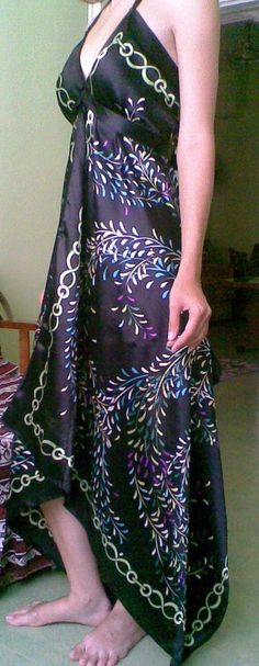 dress made from two scarves