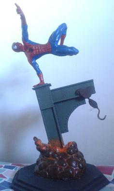Homem Aranha... inteirinho feito em Biscuit.....deu trabalho mas consegui...