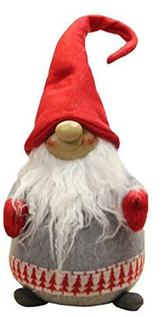 "20.5"" Gray and Red Portly Grinning Gnome Decoration with Nordic-Inspired Trim Northlight http://www.amazon.com/dp/B017AKNM16/ref=cm_sw_r_pi_dp_Ic6ywb0NBRC24"