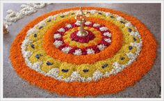 Making Rangoli designs at your house during any event is what everyone tries to achieve. Here are 75 simple rangoli designs for 2020 that are easy to make and will look the best with minimal efforts. Rangoli Designs Flower, Rangoli Patterns, Rangoli Ideas, Rangoli Designs With Dots, Beautiful Rangoli Designs, Flower Designs, Rangoli With Flowers, Diwali Flowers, Rangoli Photos