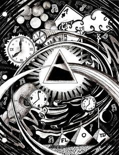 Pink Floyd Art Works (Drawings and Paintings) Pink Floyd Artwork, Arte Pink Floyd, Musica Punk, Psychedelic Art, Classic Rock, Rock Art, Cool Bands, Images, Prints