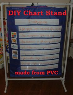 DIY Pocket Chart Stand for Classrooms, Homeschools, Preschools, & more! {In Lieu of Preschool}