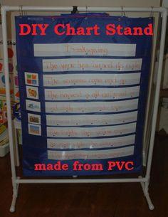 DIY Pocket Chart Stand for Classrooms, Homeschools, Preschools, & more! {In Lieu of Preschool}