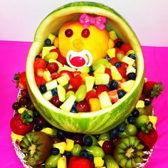 watermelon baby shower fruit salad baby shower pinterest babies