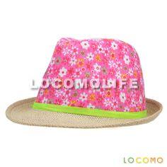 Pink Flower Floral Blossom Pattern Summer Beach Brim Straw Hat
