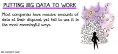Most companies have massive amounts of data at their disposal, yet fail to use it in the most meaningful ways. Curiosity Shop, Big Data, Fails, Memes, Make Mistakes, Jokes, Meme, Thread Spools, Statistics