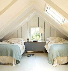 love the palette, and apparently i'm obsessed with the lines created in attic bedrooms.