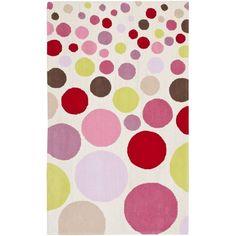 Safavieh Handmade Children's Bubbles Ivory/ Pink Area Rug (8' x 10') (SFK223A-8), Size 8' x 10' (Cotton, Geometric)