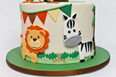 Super Baby Shower Ides For Boys Themes Safari Jungle Cake Ideas Jungle Safari Cake, Jungle Birthday Cakes, Jungle Theme Cakes, Safari Baby Shower Cake, Safari Theme Birthday, Animal Birthday Cakes, Safari Cakes, Novelty Birthday Cakes, Baby Boy Birthday