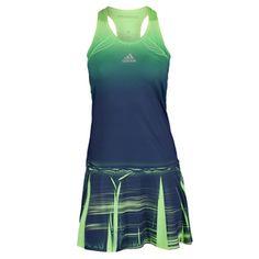 Rock the adidas Women's Adizero Tennis Dress for statement-making style. Seasonal print scheme & form-flattering silhouette for sporty/chic flair.