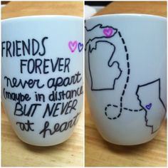 Personalized Friendship Mugs - DIY Christmas Gifts for Best Friend
