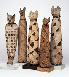 Cats mummies. Animal mummies were started by Egyptians. They mummified various animals. An enormous part of Egyptian culture, not only in their role as food and pets, but also for religious reasons. They were typically mummified for four main purposes — to allow beloved pets to go on to the afterlife, to provide food in the afterlife, to act as offerings to a particular god, and because some were seen as physical manifestations of specific gods that the Egyptians worshipped.
