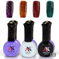 4 Pcs Magnetic Gel Nail Polish Top Coat And Base Coat Magnetic Rod Stick -9 * Click on the image for additional details.