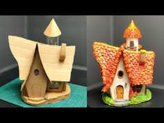 Fairy House Crafts, Clay Fairy House, Fairy Garden Houses, Hobbies And Crafts, Fun Crafts, Diy And Crafts, Halloween Diorama, Kobold, Painted Clay Pots
