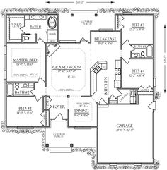 Bungalow Cabin Cottage Country Craftsman Farmhouse Southern Traditional House Plan 74735 Level One