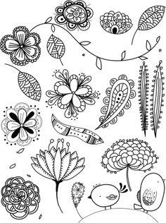 Hand drawn doodles of natural objects                                                                                                                                                                                 More