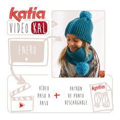 Katia VideoKAL enero: gorro y cuello Big Merino para niños | http://www.katia.com/blog/es/katia-videokal-enero-gorro-cuello-big-merino-ninos/