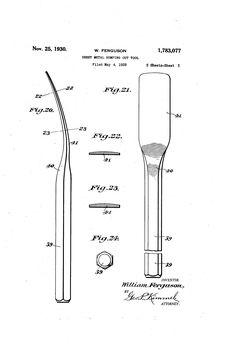 Patent US1783077 - Sheet-metal-bumping-out tool - Google Patents