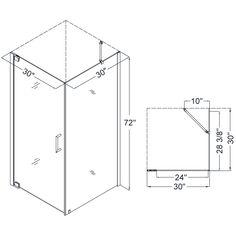 30 Inch Shower Stall Enclosures | ... SHEN 4130300 Elegance 30 X 30