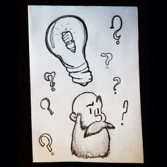 How do you draw the moment the person invented the fluorescent light bulb??