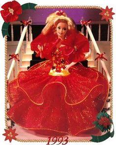 Happy Holidays Barbie 1993. My favorite Barbie ever! <3