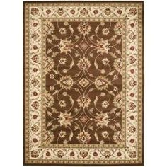 Lyndhurst Traditions Brown/ Ivory Rug (8' x 11') | Overstock.com Shopping - Great Deals on Safavieh 7x9 - 10x14 Rugs