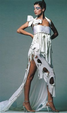 Punk Rock Wedding Dress from Zaundra Rhodes in the early 80's