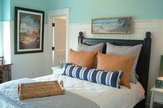 Long, skinny, custom made pillow | Interior Designer:Darci Goodman Design