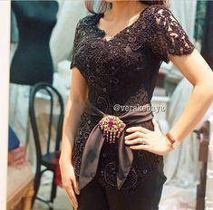 New Wedding Dresses Black Belt Style Ideas Vera Kebaya, Kebaya Lace, Kebaya Brokat, Batik Kebaya, Kebaya Dress, Batik Dress, Kebaya Wedding, Wedding Hijab, Modern Kebaya