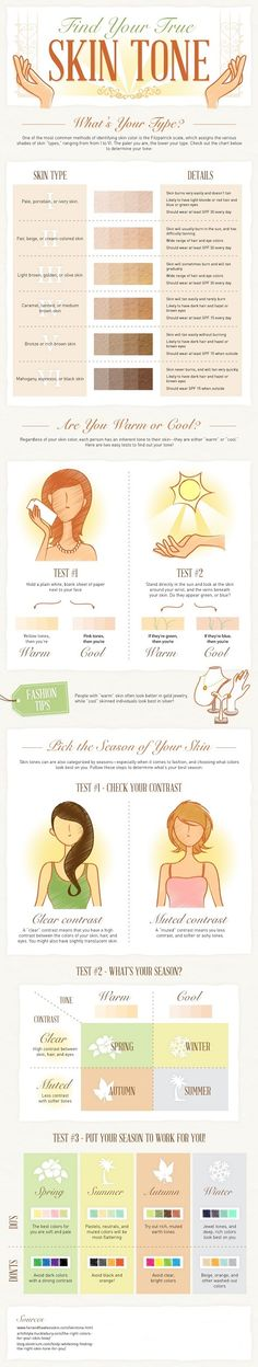 How to Determine Your Skin Tone // Infographic