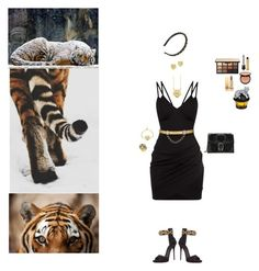 """Crouching Tiger"" by blackmagicmomma ❤ liked on Polyvore featuring Kenzo, Effy Jewelry, Giuseppe Zanotti, Valentino, Gucci, NARS Cosmetics, Sephora Collection, Yves Saint Laurent, House of Sillage and Christian Louboutin"