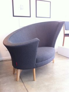 Less of a pest than his possum-wearing sister this classic Koru Chair in quality grey wool with Oak legs is reduced from the already insanely reasonable $9,000 to just $6,900 to make way for the next model.