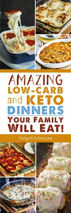 Amazing Low-Carb and Keto Dinners Your Family Will Eat! - If you're trying to eat Keto while cooking dinner for a family, this collection of Amazing Low-Carb and Keto Dinners Your Family Will Eat can really h. Low Carb High Fat, Low Carb Diet, Brownie Desserts, Low Carb Dinner Recipes, Keto Dinner, Dinner Healthy, Healthy Kids, Eating Healthy, Healthy Food