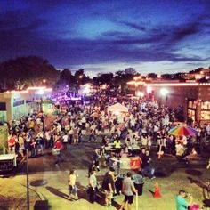 "Known as ""America's Biggest Food Truck Event,"" H&8th Night Market in Oklahoma City welcomes thousands of people to feast on delicious food from mobile restaurants and listen to live music in Mid Town."
