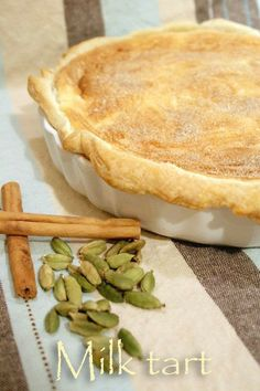 This recipe for the milk tart, a classic South African dessert, is a real crowd-pleaser, filled with cinnamonny baked custard. South African Desserts, South African Dishes, South African Recipes, Tart Recipes, Dessert Recipes, Cooking Recipes, Custard Recipes, Milk Recipes, Curry Recipes