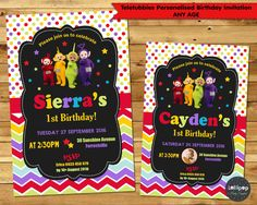 TELETUBBIES INVITATIONS 1ST FIRST BIRTHDAY PARTY INVITE PERSONALISED ANY AGE…