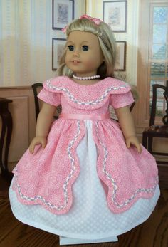 Special Occasion Gown for Marie Grace or Cecile/ Clothes for American Girl Dolls. $62.00, via Etsy.