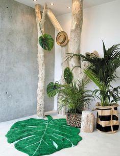 Monstera Leaf Rug design by Lorena Canals Safari Room, Jungle Theme Rooms, Jungle Bedroom, Forest Theme Bedrooms, Jungle Baby Room, Themed Rooms, Safari Theme Nursery, Deco Jungle, Ideas Habitaciones