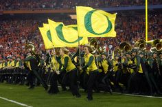 The Oregon Marching Band made its BCS Championship Game debut in January of 2011.