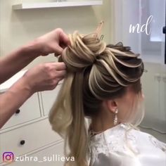 bridemaids hair If my hair looks good i can deal with anything Bun Hairstyles For Long Hair, Bride Hairstyles, Hair Up Styles, Hair Videos, Bridesmaid Hair, Gorgeous Hair, Hair Looks, Bridal Hair, Hair Inspiration