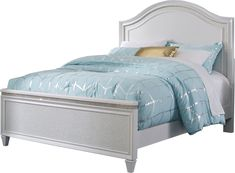 Welcome to Rooms To Go! White Headboard, Headboard And Footboard, Under Bed Storage, Big Girl Rooms, Full Bed, Panel Bed, Dream Rooms, Bedding Collections, New Room