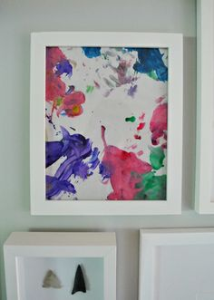 Framing your kid's artwork is such a good idea!